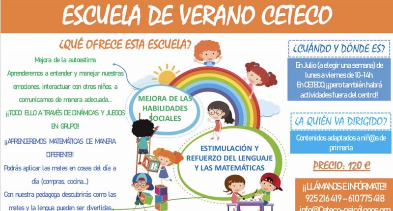 CETECO te ofrece la oportunidad de disfrutar de la Escuela de Verano CETECO