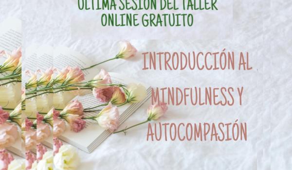ÚLTIMA SESIÓN DEL TALLER ONLINE GRATUITO: INTRODUCCIÓN AL MINDFULNESS Y AUTOCOMPASIÓN
