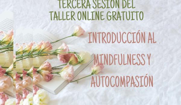 TERCERA SESIÓN DEL TALLER ONLINE GRATUITO: INTRODUCCIÓN AL MINDFULNESS Y AUTOCOMPASIÓN